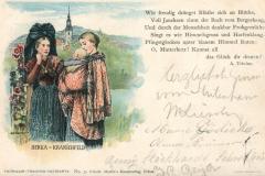 Berka - Kranichfeld, Thüringer-Trachten-Postkarte, No. 3, Friedr. Martin´s Kunstverlag, Erfurt