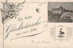 Die besten Glückwünsche zum neuen Jahre - Verlag von Georg Hahn, Kranichfeld