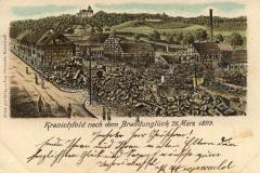 Kranichfeld nach dem Brandunglück am 26. März 1899 - Druck und Verlag Aug.  Heinecke, Rudolstadt
