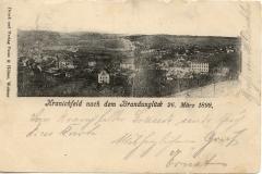 Kranichfeld nach dem Brandunglück am 26. März 1899 - Druck und Verlag Putze und Hölzer, Weimar