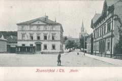 Kranichfeld i. Th. - Markt - Hof-Kunstanstalt Löffker & Co., Greiz