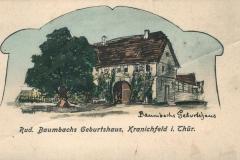 Rud. Baumbachs Geburtshaus, Kranichfeld i. Thür. -  Verlag  Georg Hahn