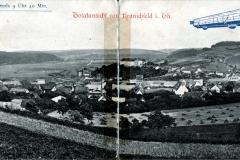 Totalansicht von Kranichfeld i. Th., 30. Mai 1909, abends 9 Uhr 40 Min - Verlag  Georg Hahn