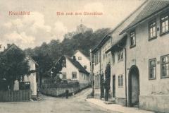 Kranichfeld, Blick nach dem Oberschloss - Herausgeber unbekannt