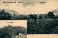 Gruss aus Kranichfeld i. Thüringen, Totalansicht, Niederburg - Wilhelm Meyer, Neukölln