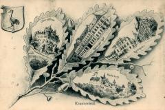 Kranichfeld, Oberschloss, Niederburg, Meininger Hof, Rathaus - Herausgeber unbekannt