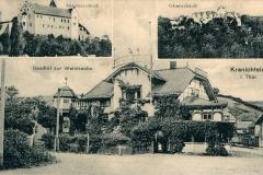Kranichfeld i. Thür., Gasthof zur Weintraube, Niederschloß, Oberschloß - Herausgeber unbekannt