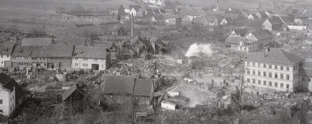 Kranichfeld nach dem Brandunglück vom 26. März 1899